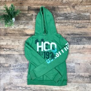 Hollister green palm tree hoodie size Small